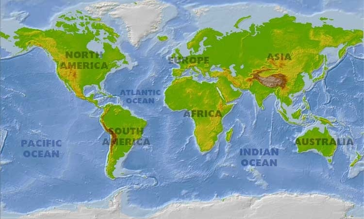 What Continent Is Russia Officially In Map Continents - Seven continents of the world
