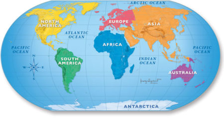What Continent Is Australia In Map Continents - List of 7 continents of the world