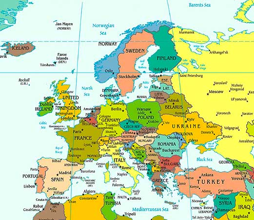 is europe a continent or just part of asia