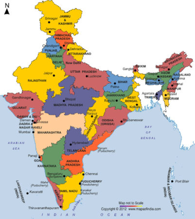 what continent is india in map 24 7 continents