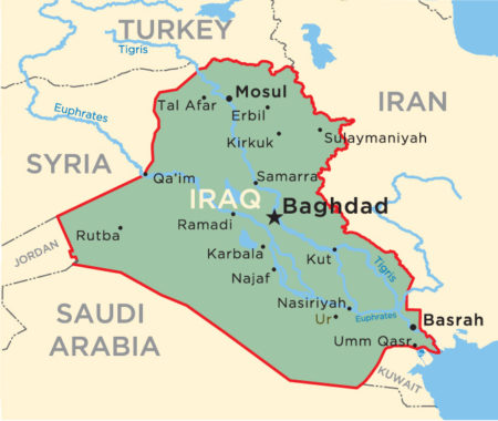 What Continent Is Iraq In Map Continents - Iraq map